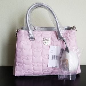 Betsey Johnson quilted cat purse